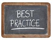 Best practice on blackboard — Stock Photo