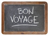 Bon voyage on blackboard — 图库照片