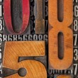 Stock Photo: Number abstract in letterpress type