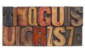 Letterpress wood type abstract — Stock Photo