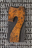 Number seven abstract — Stock Photo