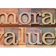 Stock Photo: Moral values - ethics concept