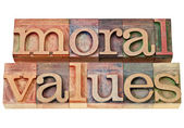Moral values - ethics concept — Stock Photo