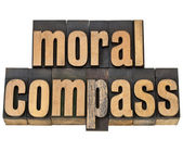 Moral compass - ethics concept — Stock Photo