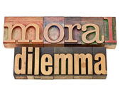 Moral dilemma — Stock Photo