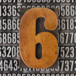 Number six - numerical abstract — Stock Photo