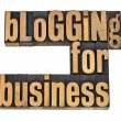 Stock Photo: Blogging for busines