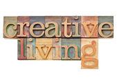 Creative living in letterpress type — Stock Photo