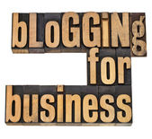 Blogging for busines — Stock Photo