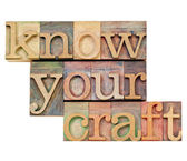 Know your craft in letterpress type — Stock Photo