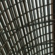 Curved reinforced steel roof — Stock Photo