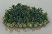 Romantische onbewoond eiland met palmbomen — Foto de Stock