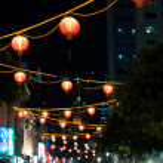 Singapore Chinatown Cityscape At Night — Stock Photo #10259371