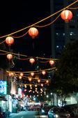 Singapore Chinatown Cityscape At Night — Stock Photo