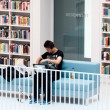Stuttgart - Studying in the contemporary public library - Stock Photo