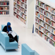 Stuttgart - Studying in contemporary public library — Stock Photo #10458565