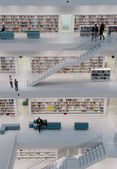 Stuttgart - Contemporary public library — Stock Photo
