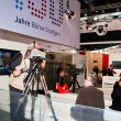TV studio at Invest exhibition at the Trade Fair Stuttgart — Stock Photo