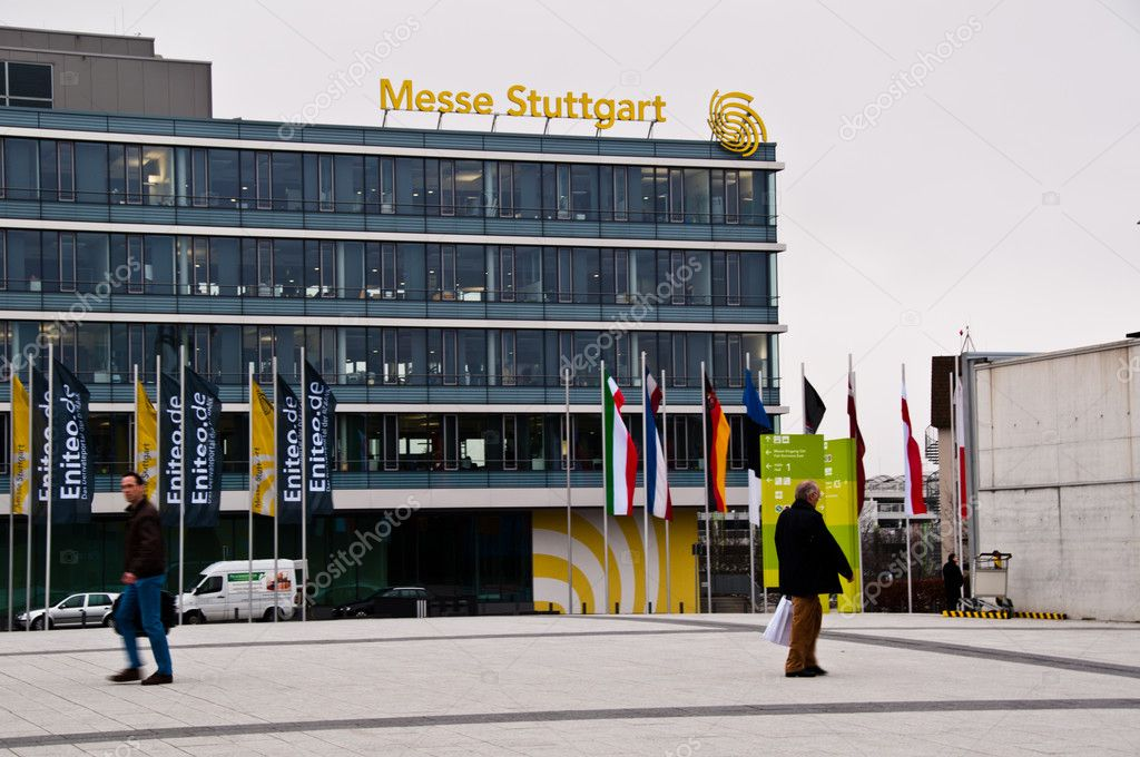 Administrative Building of the new Stuttgart Trade Fair next to the Airport on March 18, 2011 in Stuttgart, Germany.  — Stock Photo #7996572