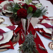 Stock Photo: Red Christmas Table