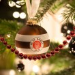 Стоковое фото: STUTTGART - JANUARY 6: FC St. Pauli Christmas ball