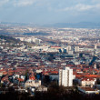 View on Stuttgart from Birkenkopf - Stock Photo