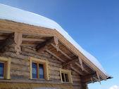 Snow Covered Hut — Stock Photo