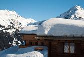Skiing huts in Montafon — Stock Photo