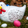 Hen And Eggs — Stock Photo #9581926