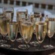 champagne flutes — Stock Photo