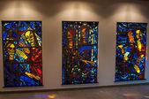 Kyrkliga glasmålningar — Stockfoto