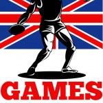Games 2012 Discus Throw British Flag — Stock Photo #10090349