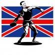 Games 2012 Discus Throw British Flag — Stock Photo #10090367