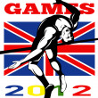 Games 2012 High Jump Track and Field British Flag — Stock Photo #10090407