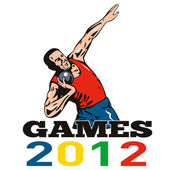 Games 2012 Shot Put Throw — Stock Photo