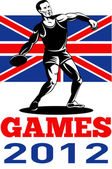 Games 2012 Discus Throw British Flag — Stock Photo