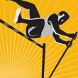 Track and Field Athlete Pole Vault High Jump Retro — Imagens vectoriais em stock