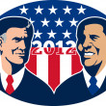 Romney Vs Obama American Elections 2012 — Stock Photo #10383001