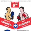 Romney Vs Obama American Elections 2012 Boxing — Stock Photo #10383020