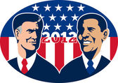 Romney Vs Obama American Elections 2012 — Stock Photo