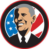 American President Barack Obama Flag — Stock Photo