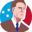 American Presidential Candidate Willard Mitt Romney - Stock Photo