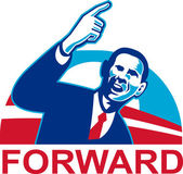 American President Barack Obama pointing forward — Stock Photo