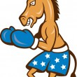 Donkey Jackass Boxing Stance — Stock Vector
