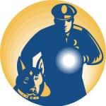 Постер, плакат: Security Guard Policeman Police Dog