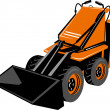 Compact skid steer — Stock Photo