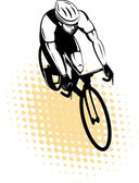 Male cyclist riding racing bicycle — Stock Photo