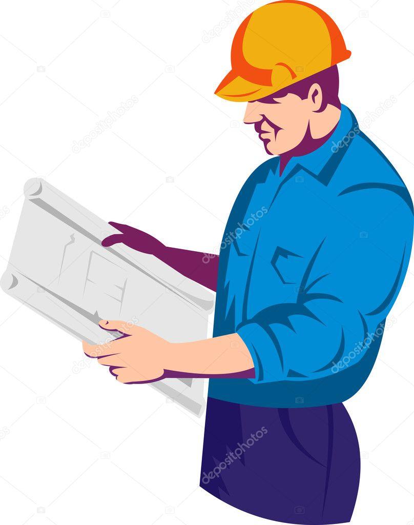 的复古风格工作的建筑工人
