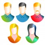 Generic avatar icon illustration — Stock Photo