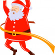 Stock Photo: Father Christmas SantClaus running race